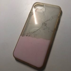 Iphone 6 7 8 pink marble phone case